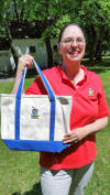 Eileen with Pima Polo and Tote